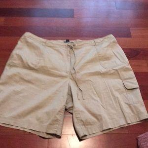 Tan shorts size  22w